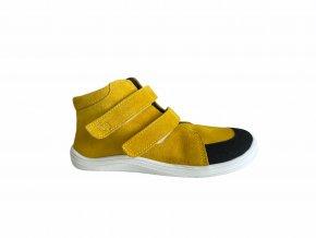 boty Baby Bare Febo Fall Mustard asfaltico (s membránou) (EU size 21)