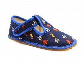 bačkory Beda Blue Footbal s opatkem (BF-060010/W/OP) (EU size 22, Inner shoe length 140, Inner shoe width 60)