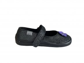 balerínky Beda Dark Violette (BF 0001/BA/kůže) (EU size 25, Inner shoe length 155, Inner shoe width 69)