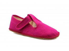 bačkory Beda tmavě růžové s třpytkami (BF-060010/W) (EU size 22, Inner shoe length 140, Inner shoe width 60)