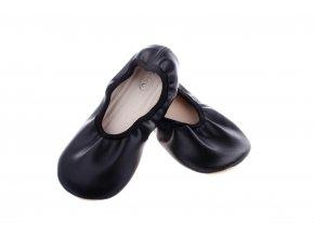gymnastické barefoot cvičky kožené black