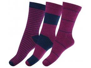 ponožky Melton fialové