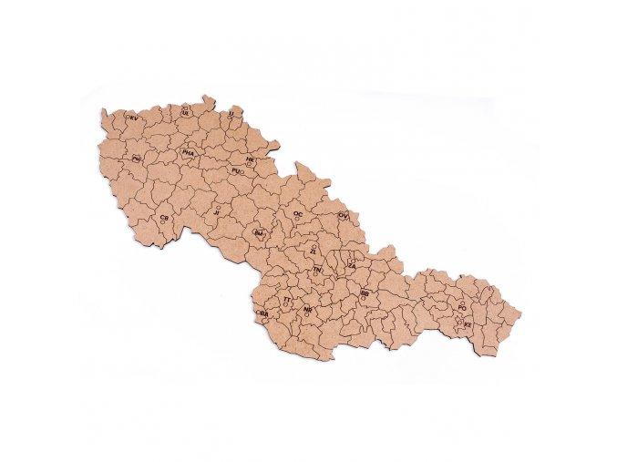 Mapucle Československo kraje