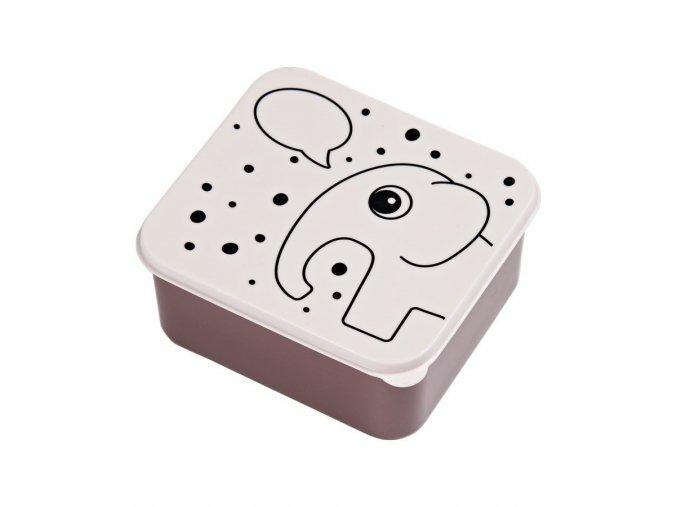 DONE BY DEER Obědový box Contour růžový