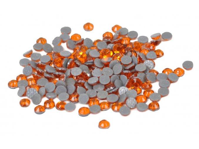 3mm (10ss)  Oranžové nažehlovací korálky