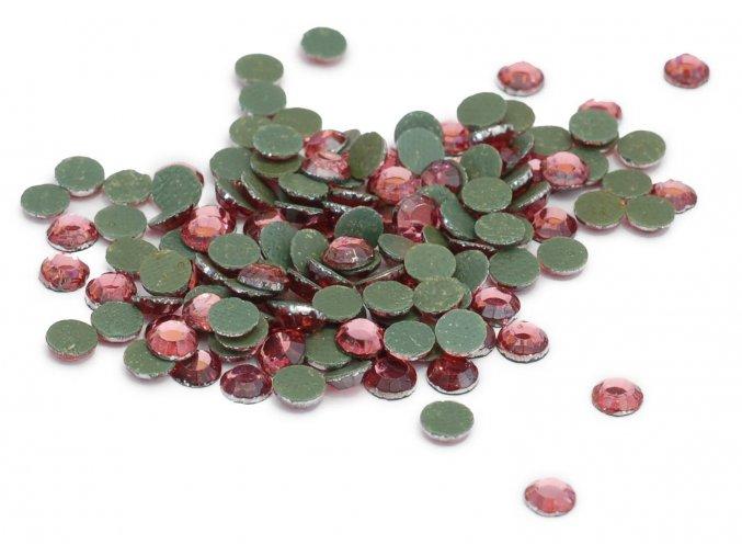 4mm (16ss)  Růžové nažehlovací korálky