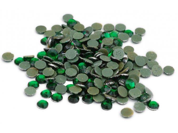 4mm (16ss)  Smaragd (zelená) nažehlovací korálky