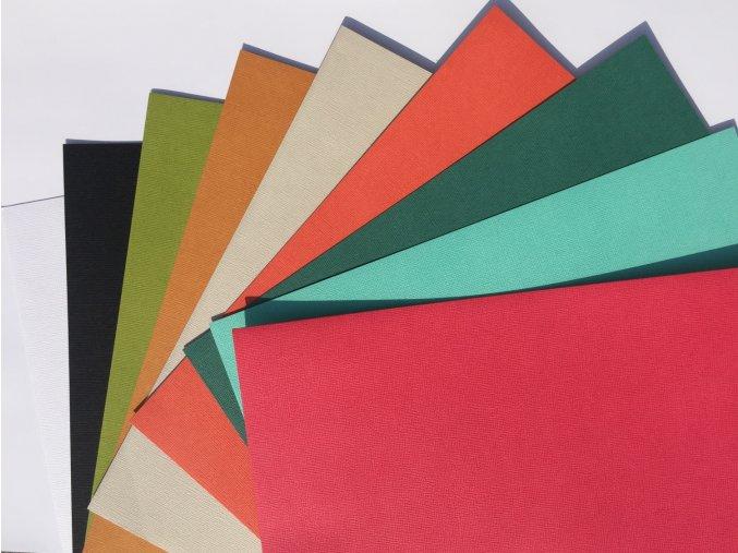 Mix 1 - barevné samolepící kartony 9ks