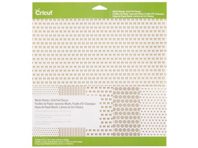 2003345 Cricut Washi Sheets Gold Foil Classic Pkg