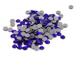 4mm (16ss)  Kobalt (modrá) nažehlovací korálky