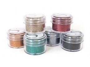 Třpytivý prášek 6 barev mix 2