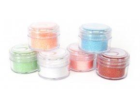 Třpytivý prášek 6 barev mix 3