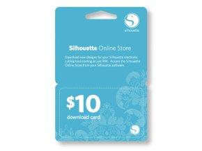 10USD kredit do Silhouette Design Store bez poštovného