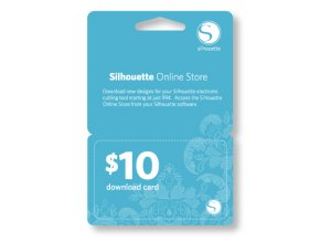 10USD kredit do Silhouette Design Store- elektronický kód bez poštovného