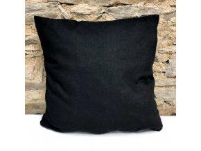 Černý bavlněný povlak na polštářek 40x40cm