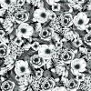 Transfer Sheets Black White Floral