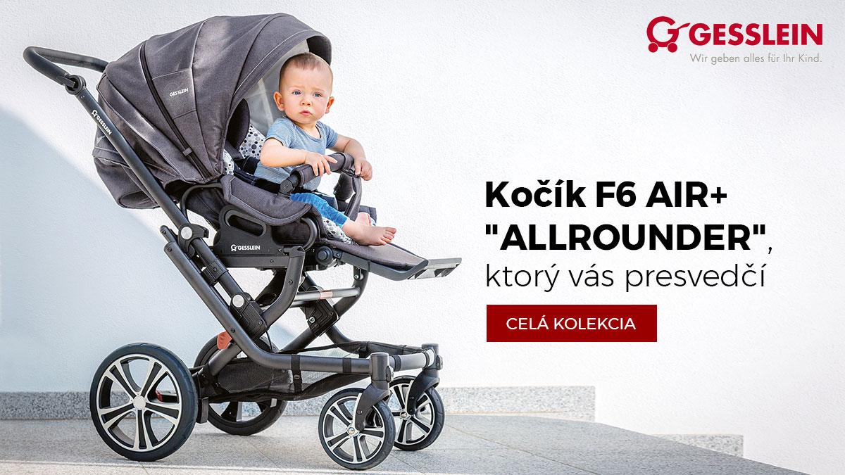 GESSLEIN F6 AIR+ KOČÍK /KOLEKCIA 2018