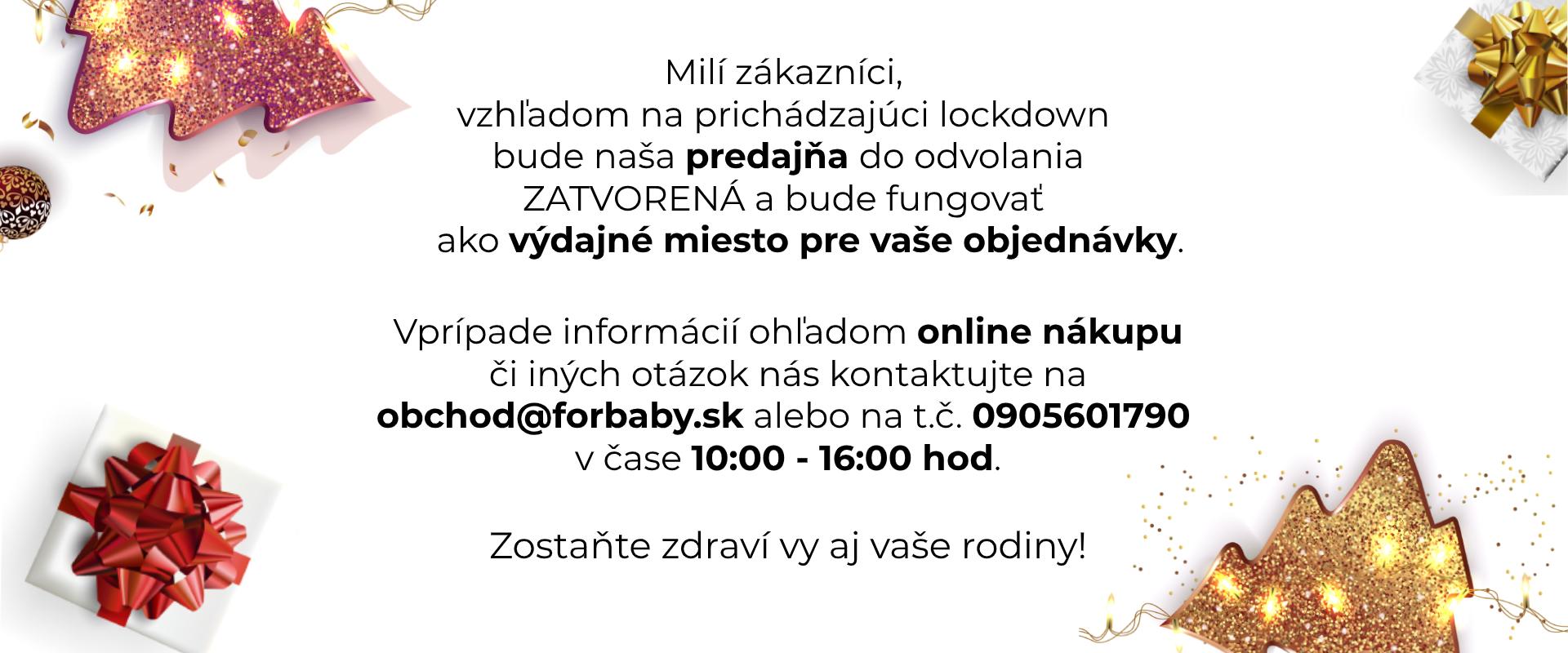 lockdown Vianoce info