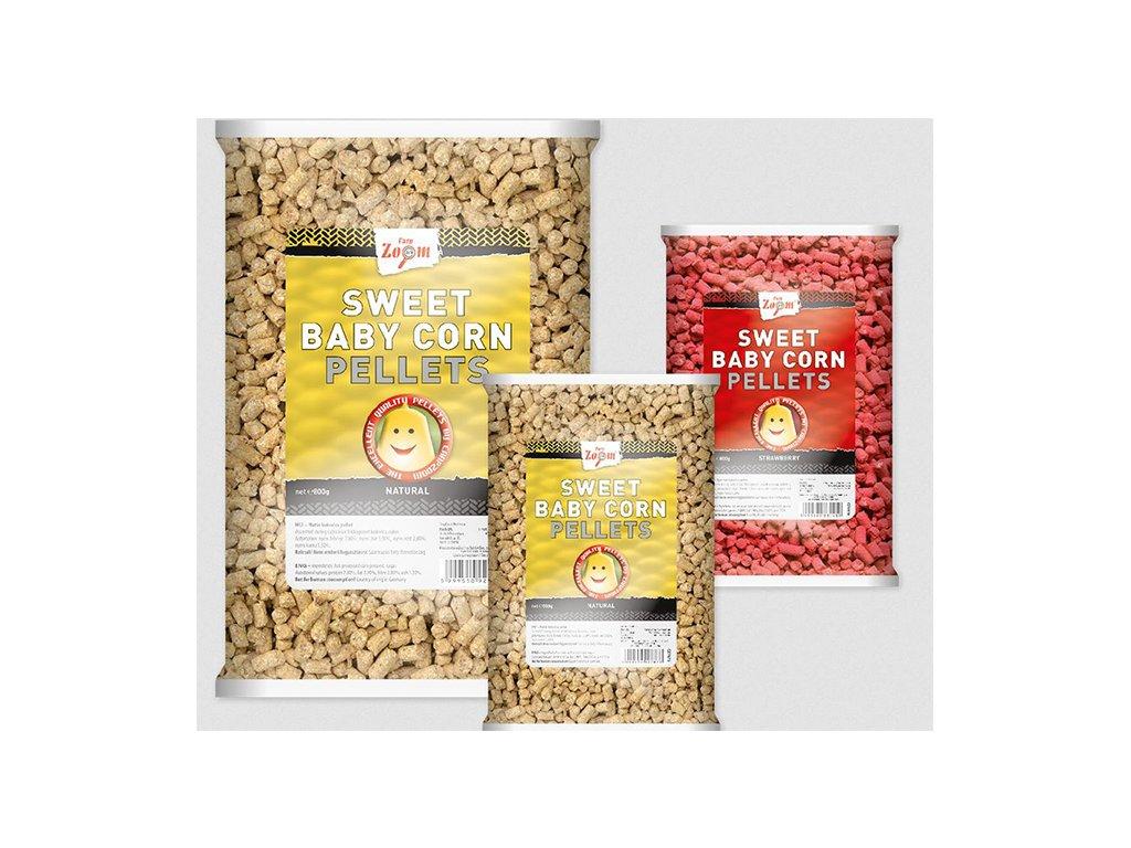 Carp Zoom Sweet Baby Corn Pellets - 800 g  + Sleva 10% za registraci