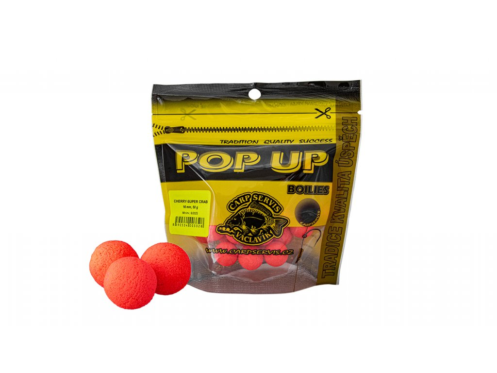 Carp Servis Václavík Pop Up Boilies - Cherry - Super Crab  + Sleva 10% za registraci