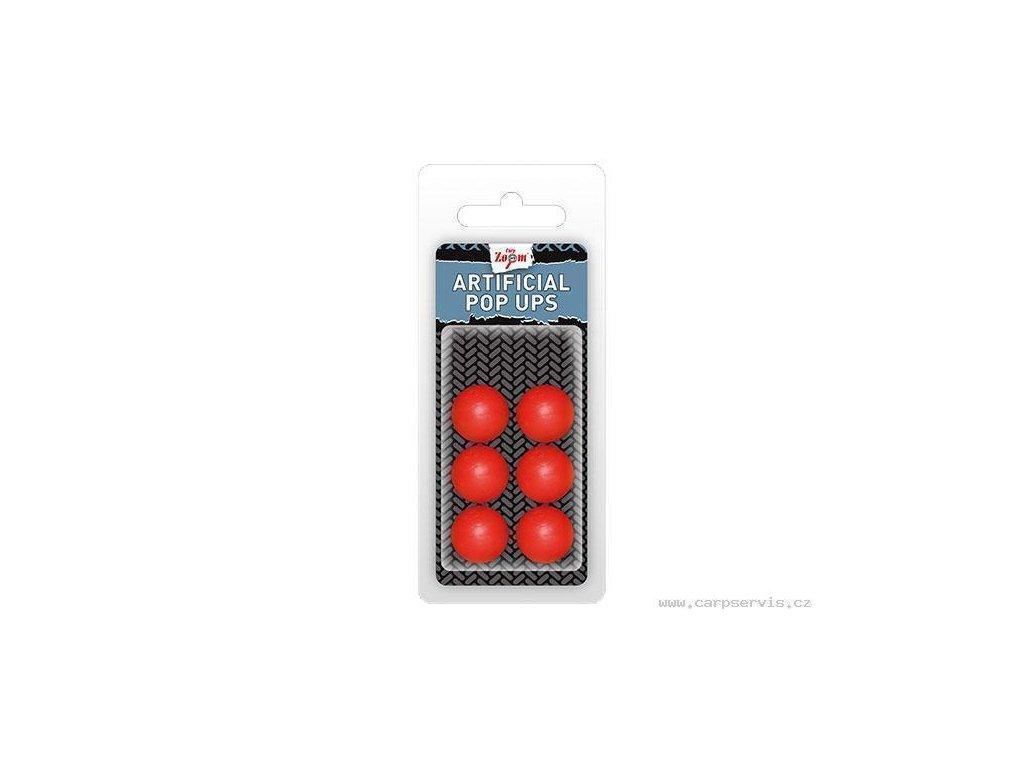 Carp Zoom Umělá nástraha - Artificial Pop Ups/10 mm/Red  + Sleva 10% za registraci