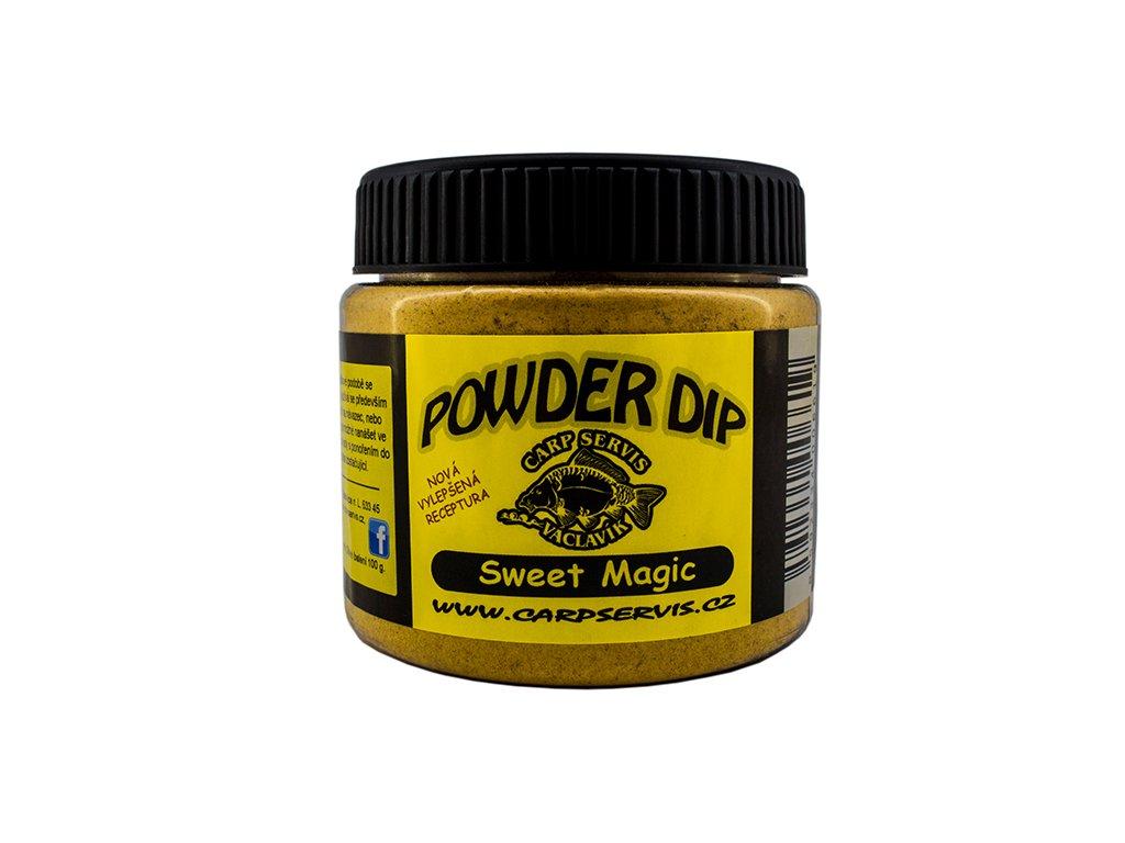 Carp Servis Václavík Powder Dip - 100 g/Přírodní játra  + Sleva 10% za registraci