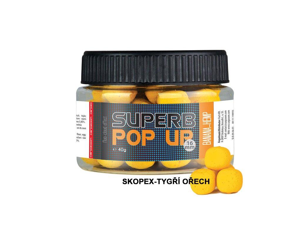 Carp Zoom Superb Pop Ups - 40 g/16 mm/Skopex-Tygří ořech  + Sleva 10% za registraci