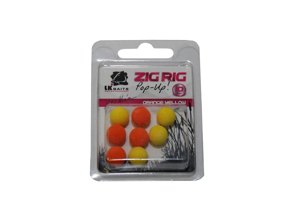 LK Baits ZIG RIG Pop–Up 10 mm – Orange/Yellow  + Sleva 10% za registraci