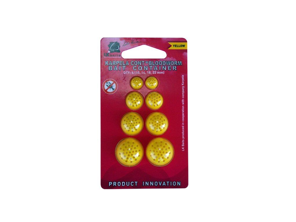 LK Baits Karpela Cont s dírkami - žlutá yellow