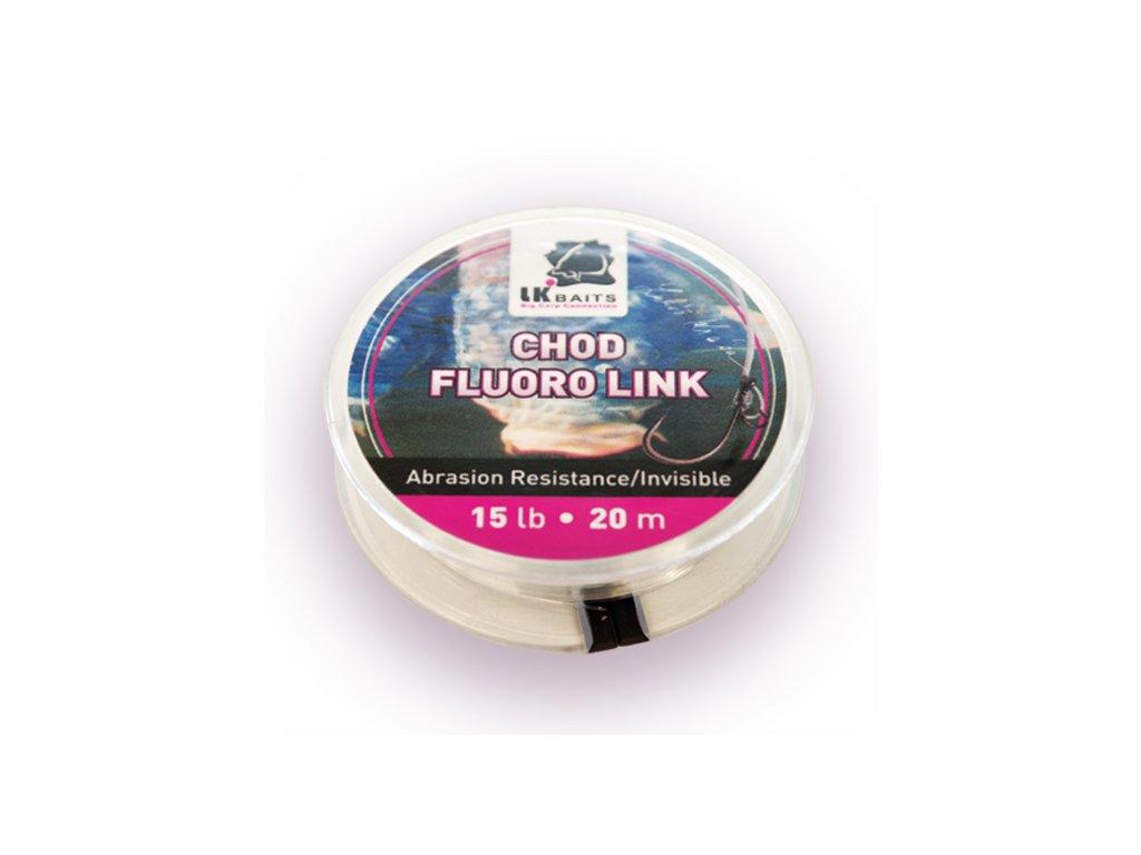 LK Baits tuhý návazcový materiál Chod Fluoro Link 15lb 20m