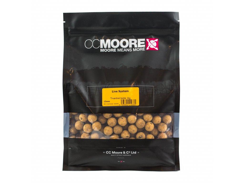 CC Moore Live system - Trvanlivé boilie 15mm 5kg  + Sleva 10% za registraci + ZDARMA kaprové háčky