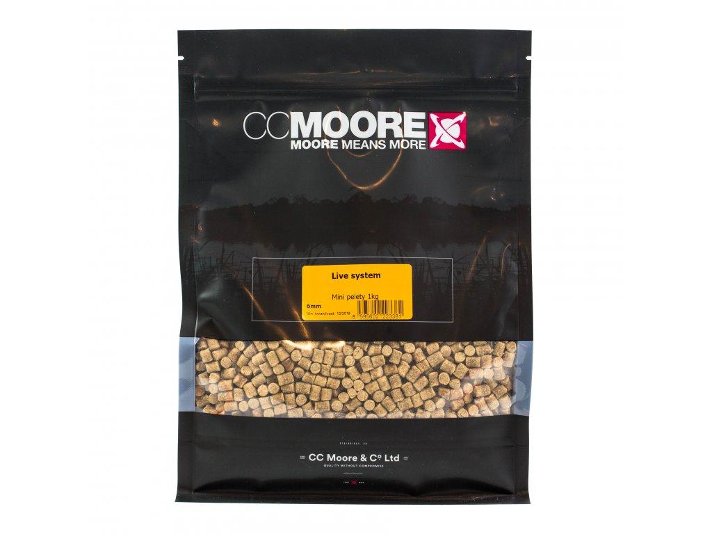 CC Moore Live system - Mini pelety 6mm 1kg  + Sleva 10% za registraci