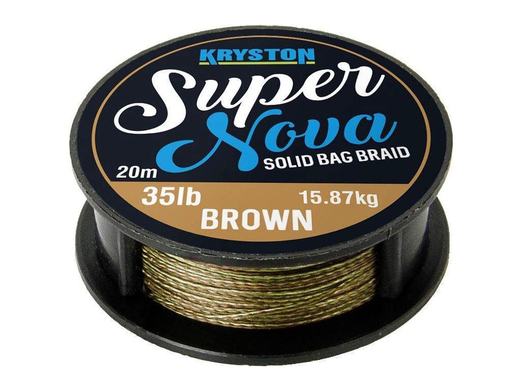 Kryston pletené šňůrky - Super Nova solid braid pískový 25lb 20m  + Sleva 10% za registraci