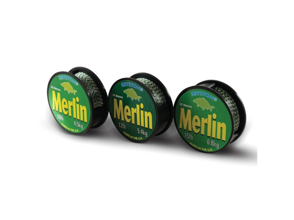 Kryston pletené šňůrky - Merlin 15lb 20m  + Sleva 10% za registraci