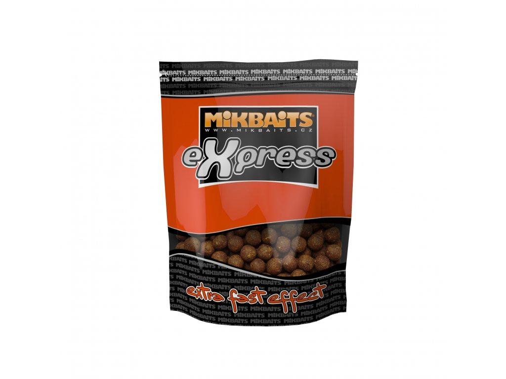 Mikbaits eXpress boilie 1kg - Půlnoční pomeranč 18mm  + Sleva 10% za registraci