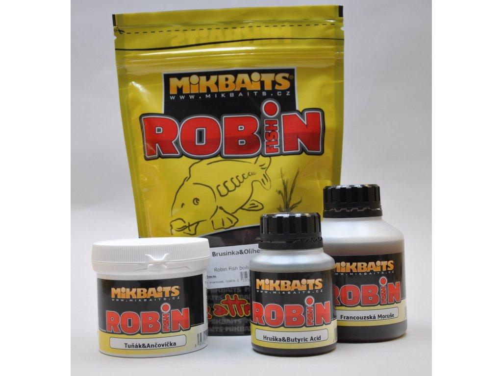 Mikbaits big pack - Trvanlivé boilie 20kg Robin Fish Zrající banán 16mm  + Sleva 10% za registraci + ZDARMA Boilies Boss2 MAGIC Slunečnice - 200 g/20 mm