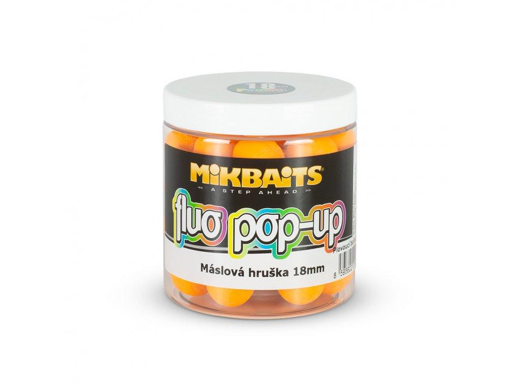 Mikbaits Plovoucí fluo boilie 250ml - Máslová hruška 18mm  + Sleva 10% za registraci