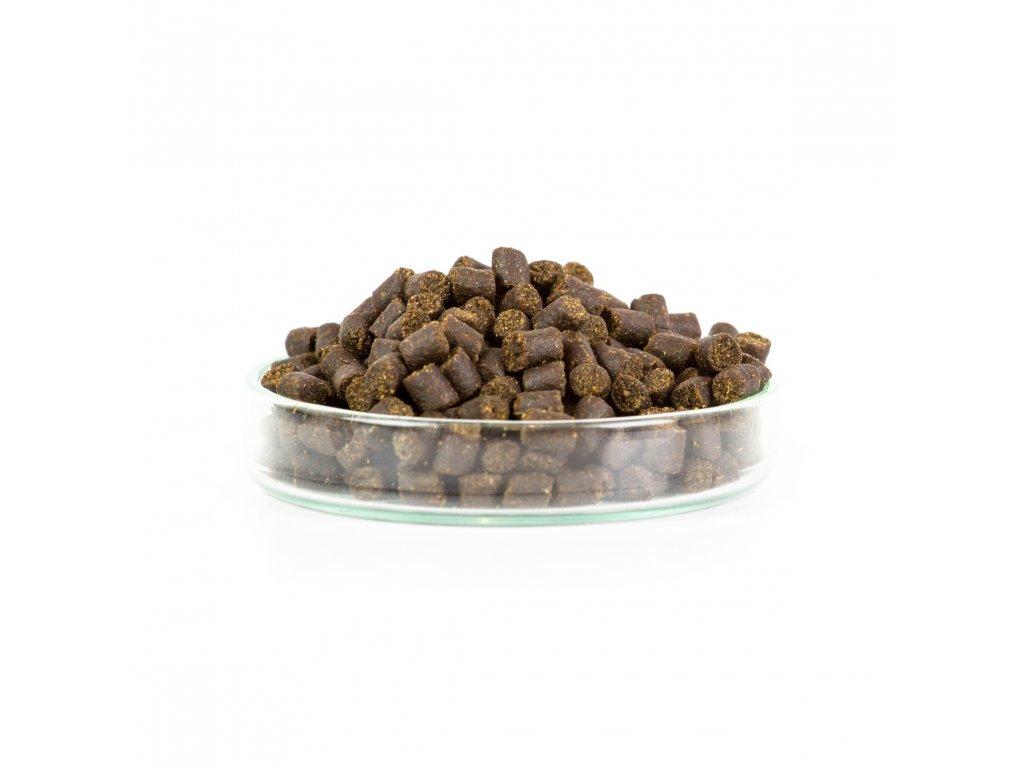 Mikbaits Pelety 2,5kg combo - Pstruží granule 4mm + 100ml lososový olej  + Sleva 10% za registraci