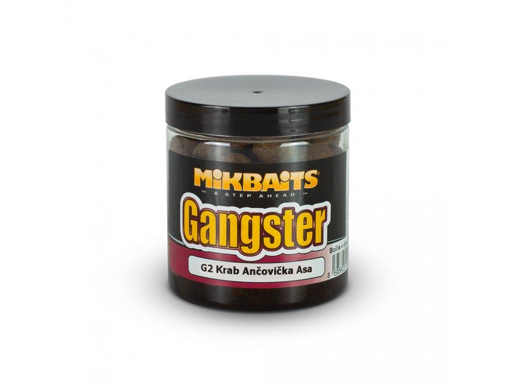 Mikbaits Gangster boilie v dipu 250ml - G2 Krab Ančovička Asa 16mm  + Sleva 10% za registraci