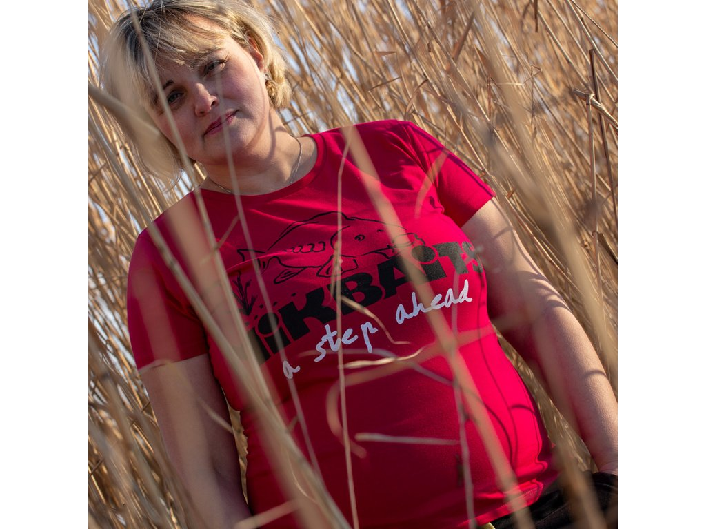 Mikbaits oblečení - Dámské tričko červené Ladies team  + Sleva 10% za registraci