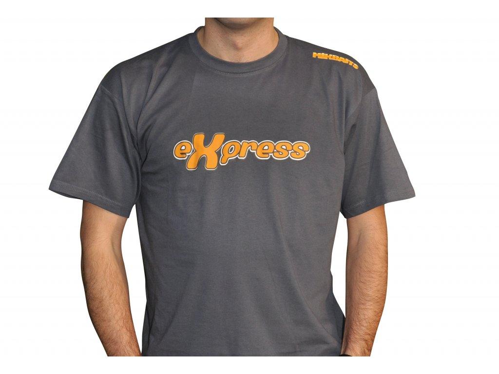 Mikbaits oblečení - Tričko grafitově šedé Express  + Sleva 10% za registraci