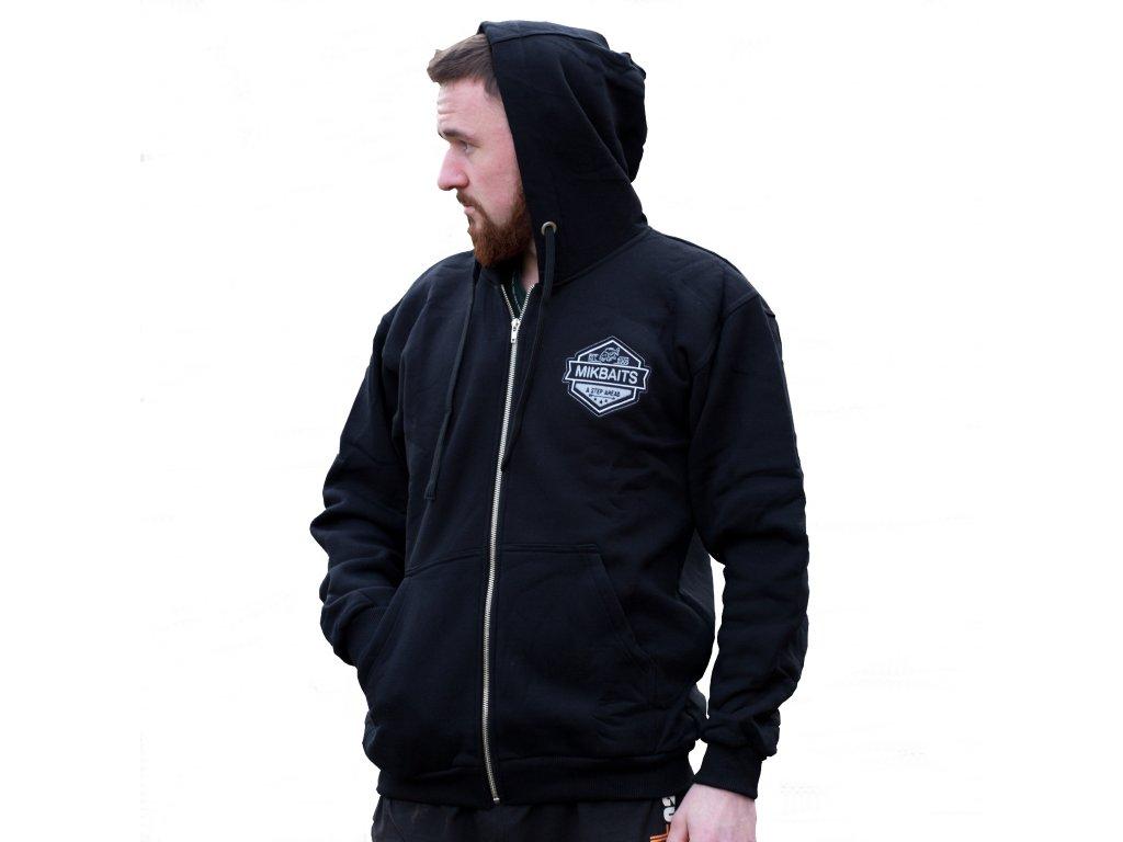 Mikbaits oblečení - Mikina team černá s kapucí  + Sleva 10% za registraci