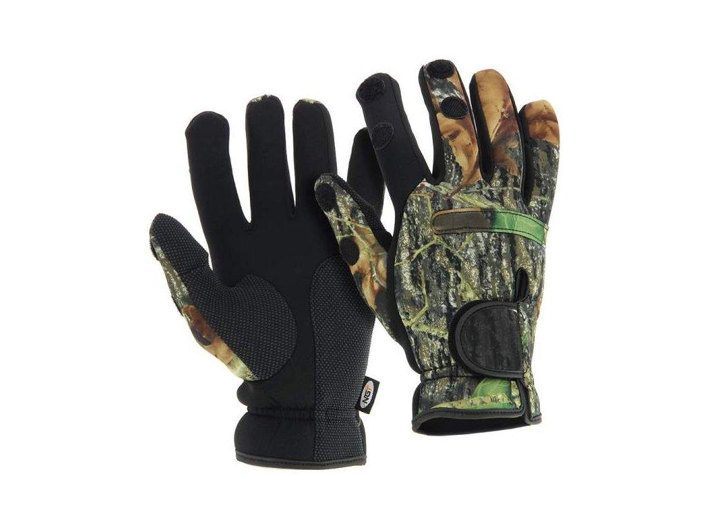 NGT Neoprén Rukavice Camo Gloves  + Sleva 10% za registraci