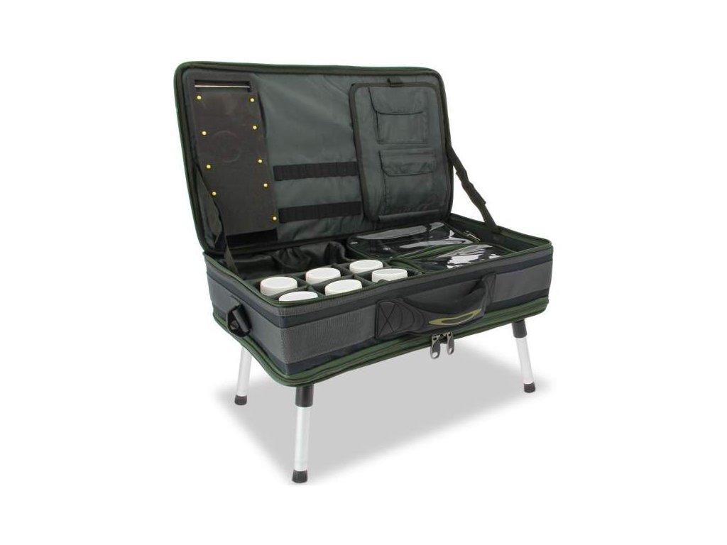 NGT Stolek s Kufrem Carp Bivvy Table System  + Sleva 10% za registraci + ZDARMA kaprové háčky