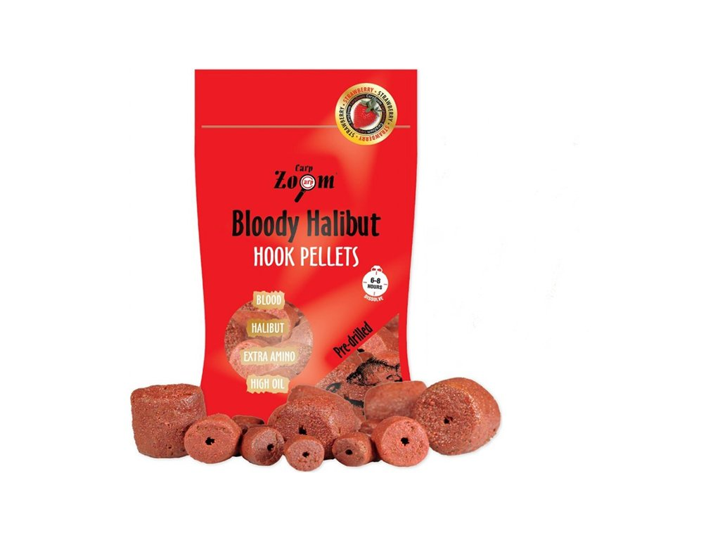 Carp Zoom Strawberry Halibut Hook Pellets - s otvorem - 150 g/20 mm  + Sleva 10% za registraci