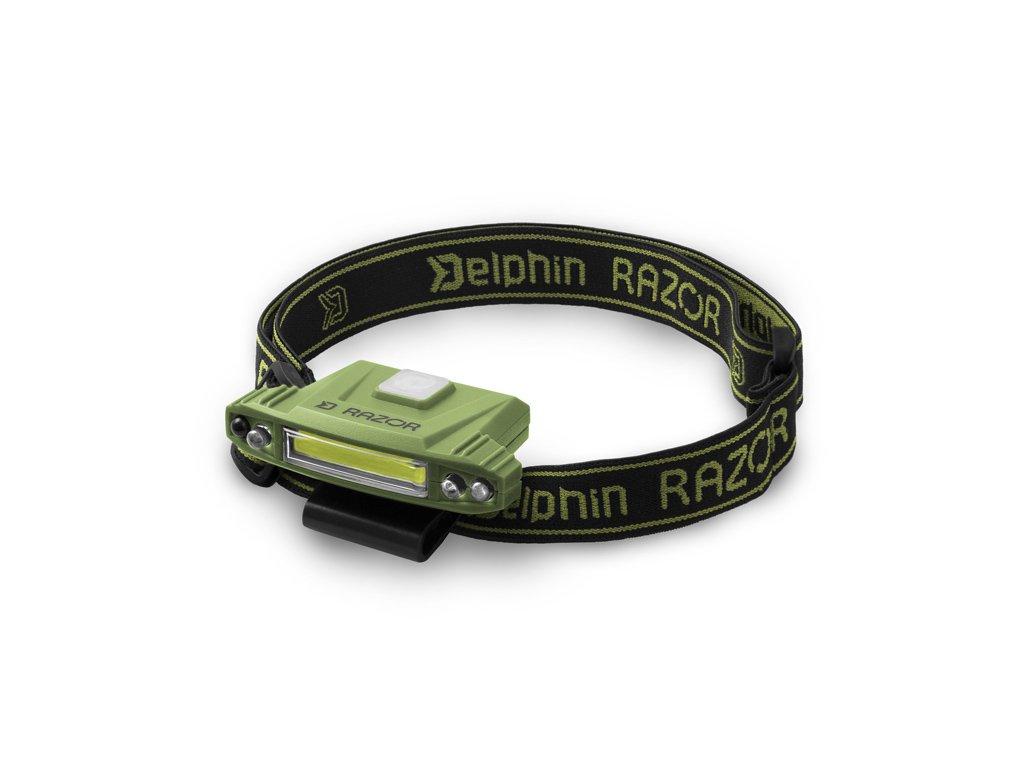 Čelová lampa Delphin RAZOR USB  + Sleva 10% za registraci