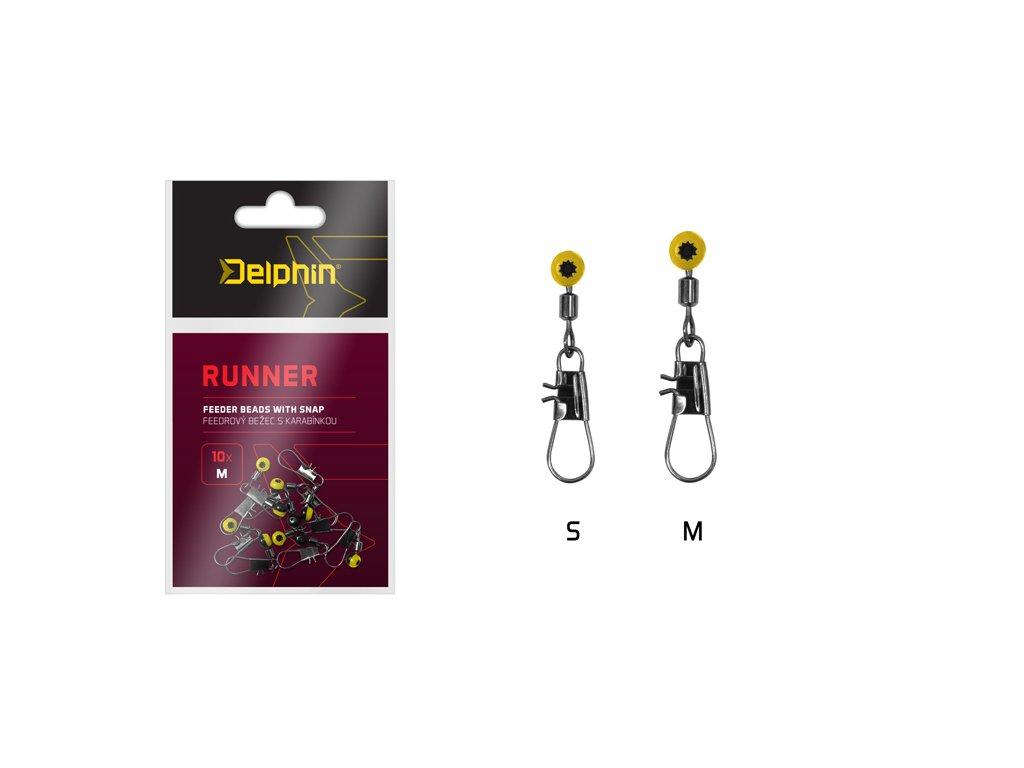Feederový běžec s karabinkou Delphin RUNNER  + Sleva 10% za registraci