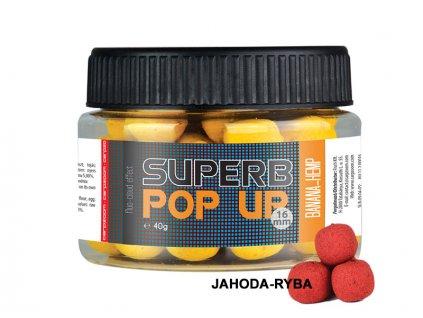 Carp Zoom Superb Pop Ups - 40 g/16 mm/Jahoda-Ryba  + Sleva 10% za registraci