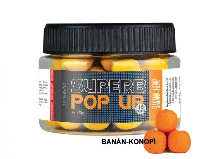 Carp Zoom Superb Pop Ups - 40 g/16 mm/Banán-Konopí  + Sleva 10% za registraci