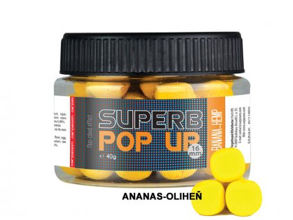 Carp Zoom Superb Pop Ups - 40 g/16 mm/Ananas-Oliheň  + Sleva 10% za registraci